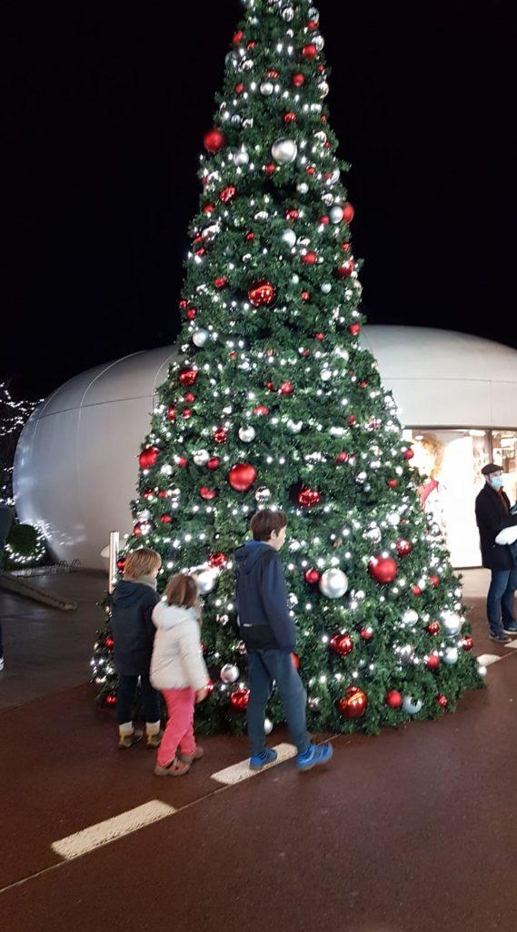 Famille T devant le sapin de Noël